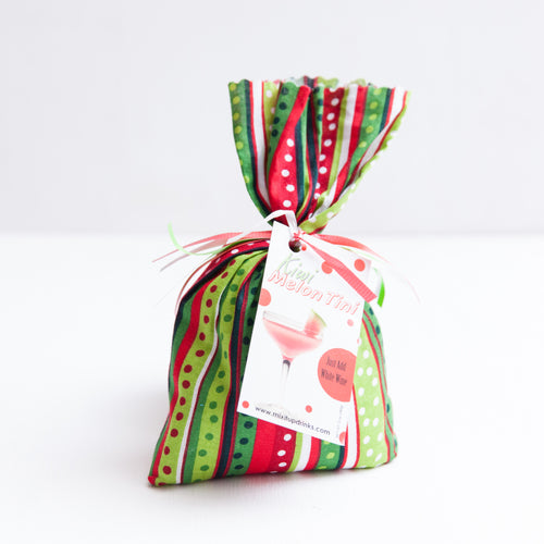 Kiwi Melon Tini - Slushy Wine Mix in Striped Red and Green Bag