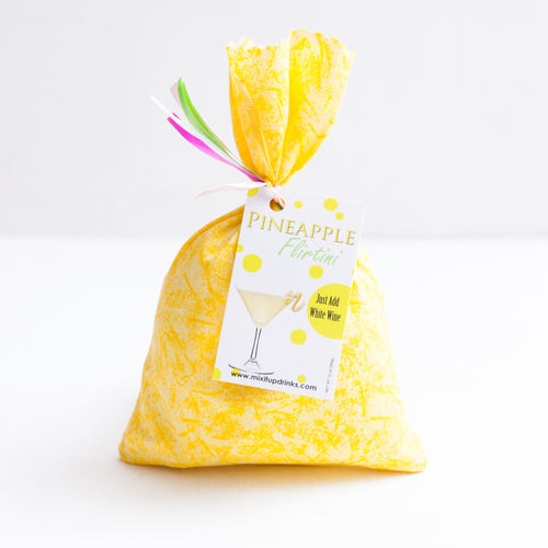 Pineapple Flirtini - Slushy Wine Mix in Yellow Bag