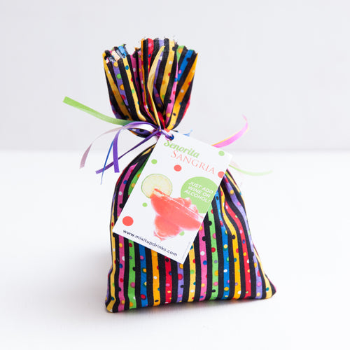 Senorita Sangria - Slushy Wine Mix in Rainbow Striped Bag