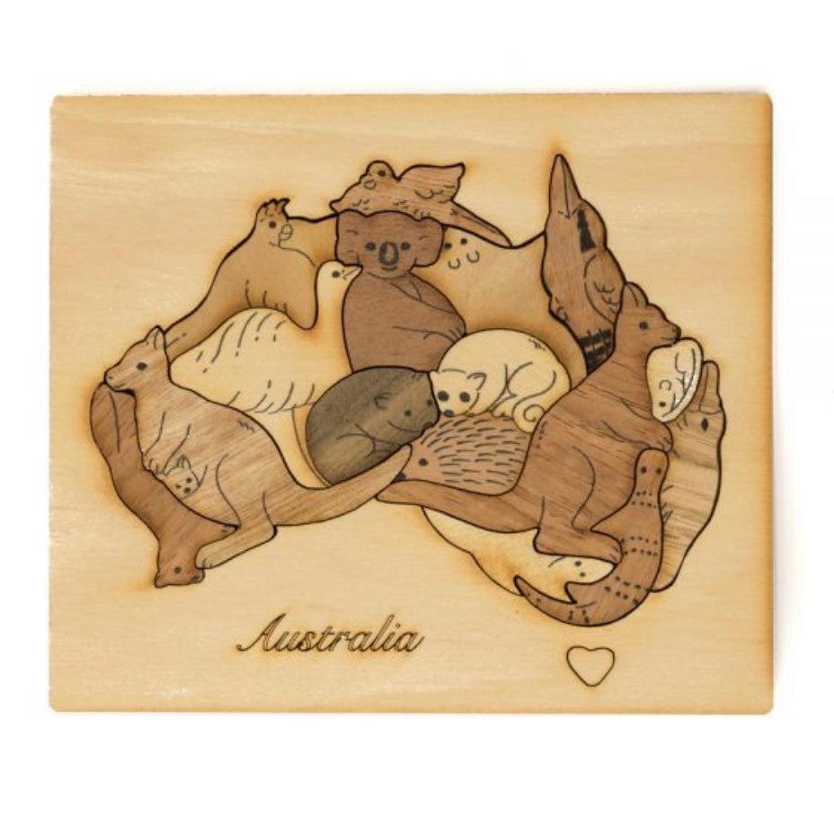 Australian Native Animal Puzzle - Mixed Wood