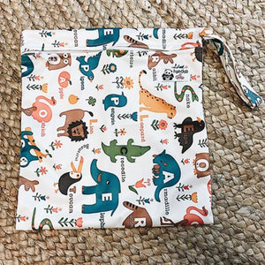 Luvme ECO Waterproof Reusable Washable Nappy Bag - Animals