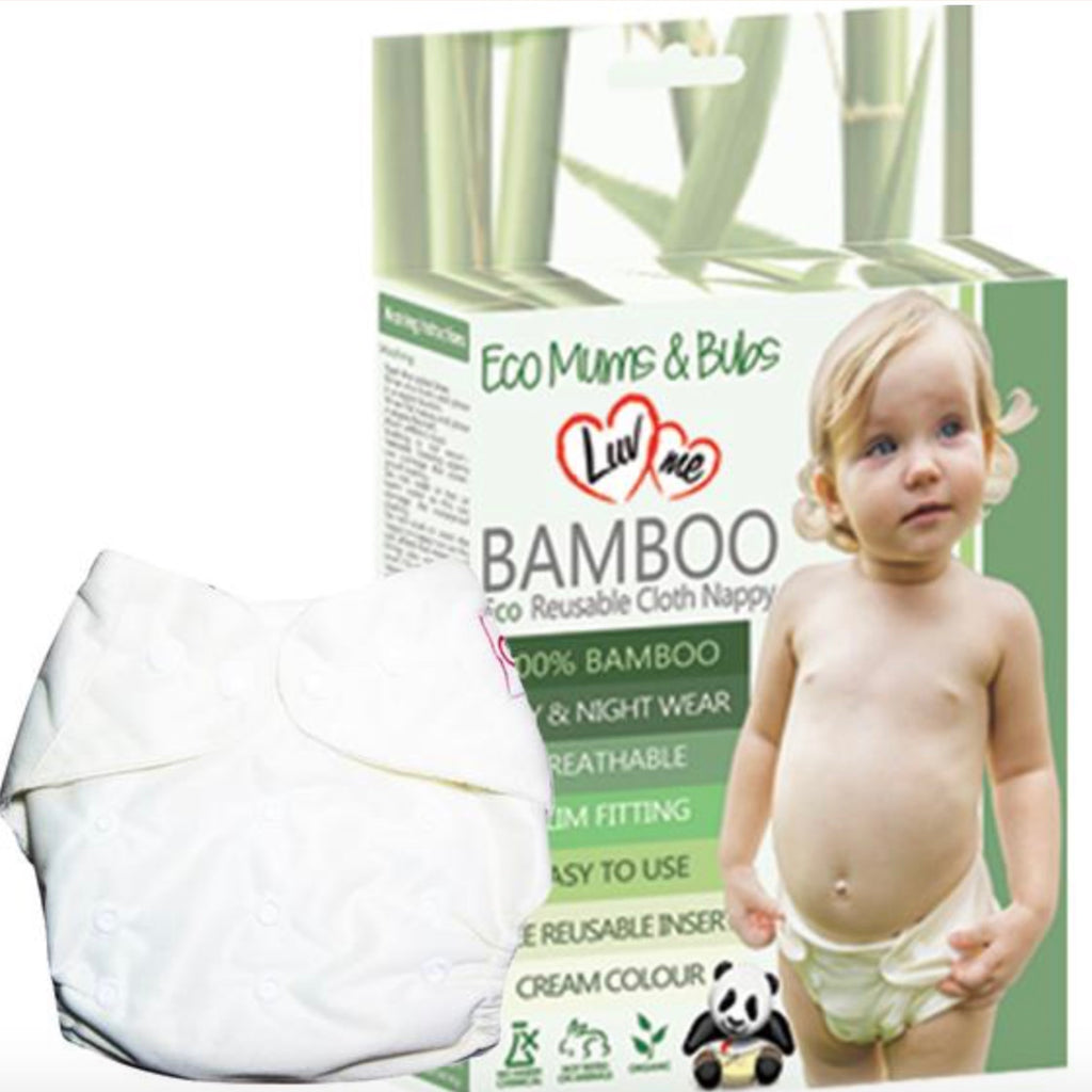 Luvme Bamboo ECO Multifit All in One Cloth Nappy with Insert - Single