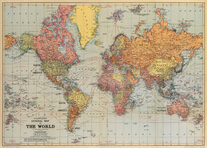 Cavallini Poster - World Map