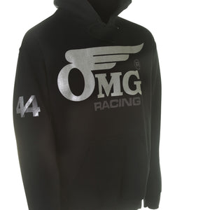 Unisex OMG 44 Pull Over Hoodie - Silver