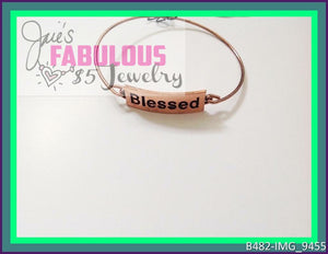 Blessed - copper bangle