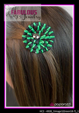 Black and green hair clip