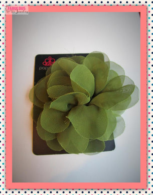 Green hair clip/pin