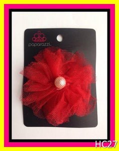 Red hair clip/pin