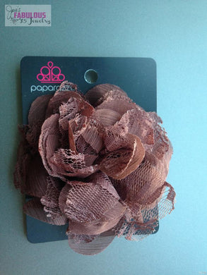 Brown hair clip/pin