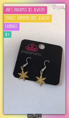 kid's snowflake earrings