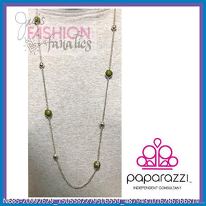 Long green necklace
