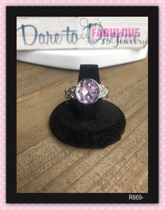 Pink dainty ring