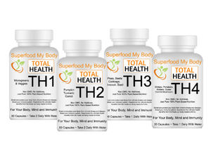 TH1, TH2, TH3, TH4, Total Health Superfood My Body Nutrition Bundle
