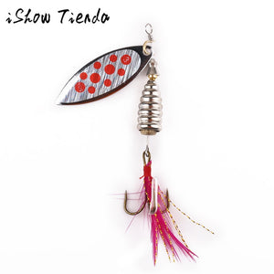 Spinner Spoon Lure With Feather