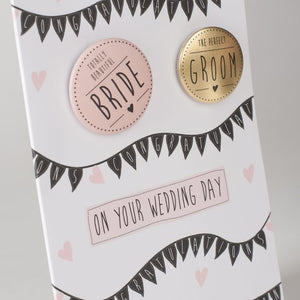 Paper Sole Wedding Day Greetings Card