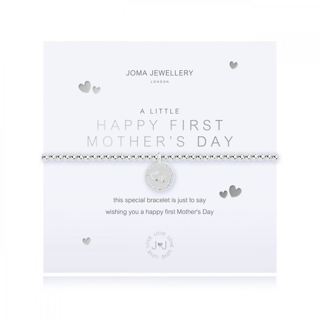 A Little Happy First Mother's Day Silver Joma Bracelet