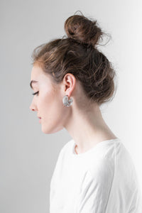 Earth Segment Stud Earrings