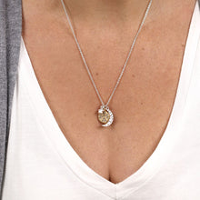 Load image into Gallery viewer, Moon & Stars Silver Necklace