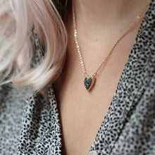 Load image into Gallery viewer, Black Crystal Heart Necklace