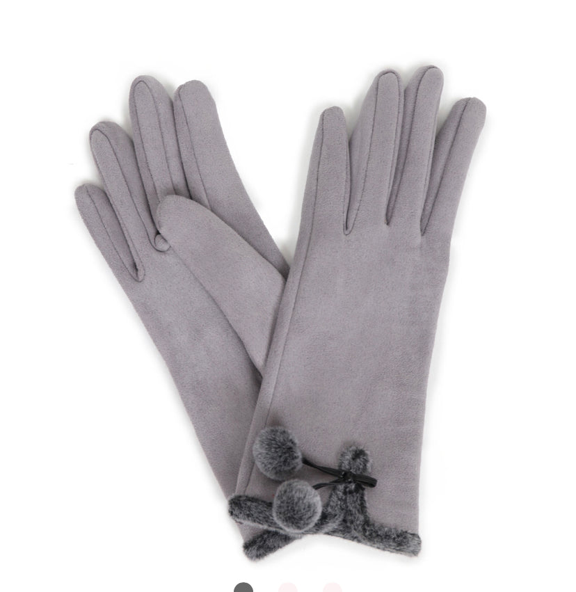 Amelia Faux Suede Gloves