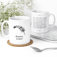 Load image into Gallery viewer, Poetry Lover Quotes Mug