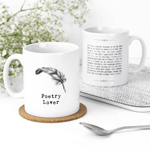 Poetry Lover Quotes Mug