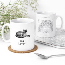 Load image into Gallery viewer, Cat Lover Heartwarming Quotes Mug