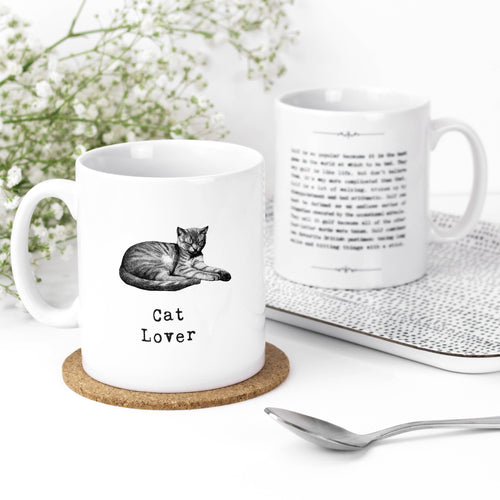 Cat Lover Heartwarming Quotes Mug