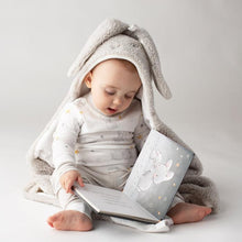 Load image into Gallery viewer, Blossom Grey Hooded Blanket