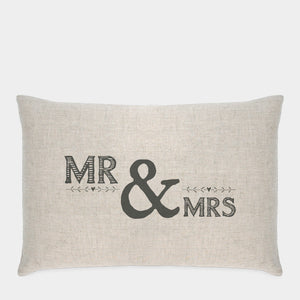 Mr & Mrs Long Cushion