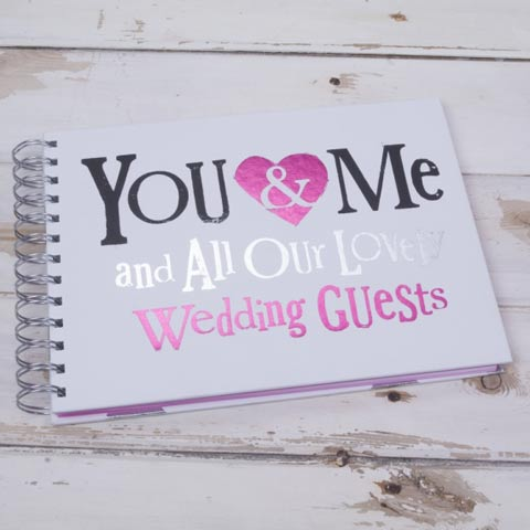 You & Me Wedding Guest Book