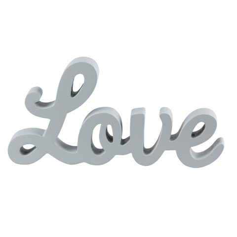 Grey LOVE Standing Letters
