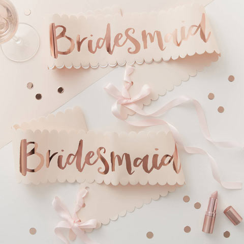 Team Bride Bridesmaid Sash 2 Pack