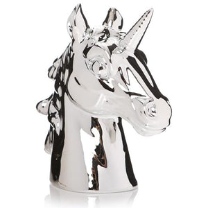 AG TA DA Silver Metallic Unicorn Money Bank