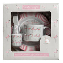 Load image into Gallery viewer, Flamingo Melamine Children's Dinner Set