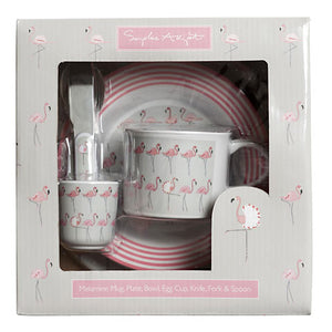 Flamingo Melamine Children's Dinner Set