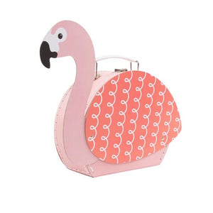 Pink Tropical Flamingo Suitcase