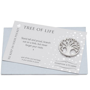 Tree Of Life Pewter Pocket Charm