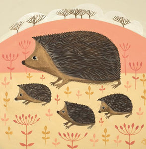 Hooray For Hedgehogs Greetings Card By Catriona Hall