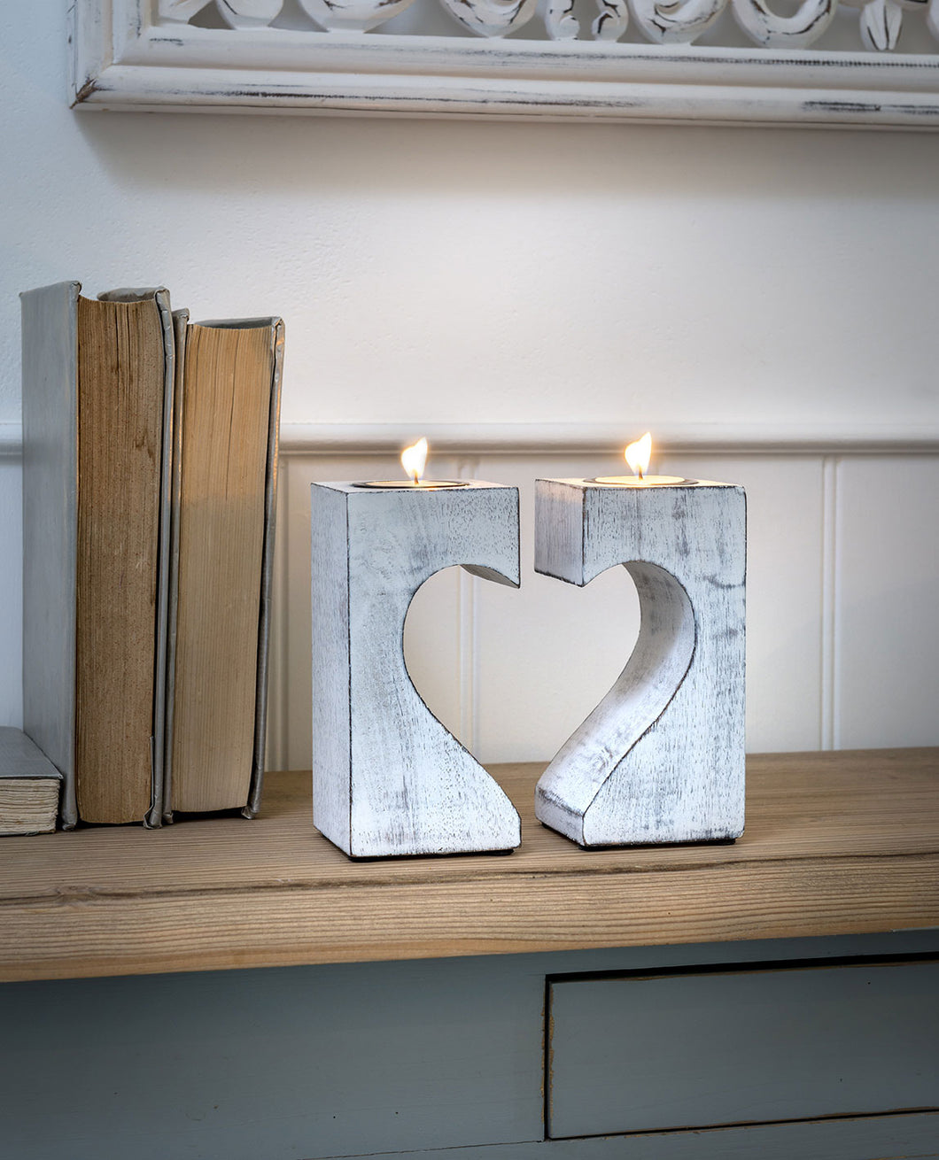 Broken Heart T Light Holder