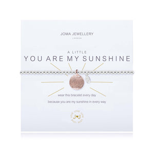 A Little You Are My Sunshine Silver Bracelet