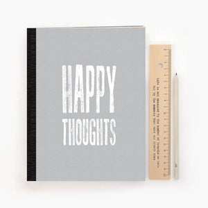 Large Stitched Notebook Happy Thoughts