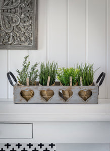 Grey Four Heart Trug