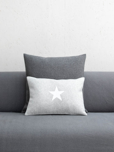Oblong Felt Cushion Silver