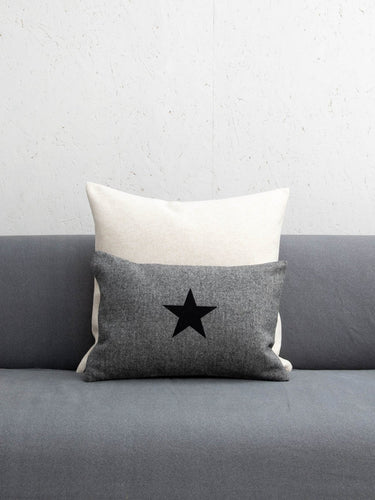 Oblong Felt Cushion Charcoal Grey