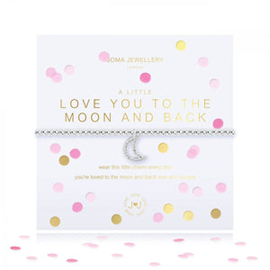 A Little Confetti Love You To The Moon & Back Silver Bracelet