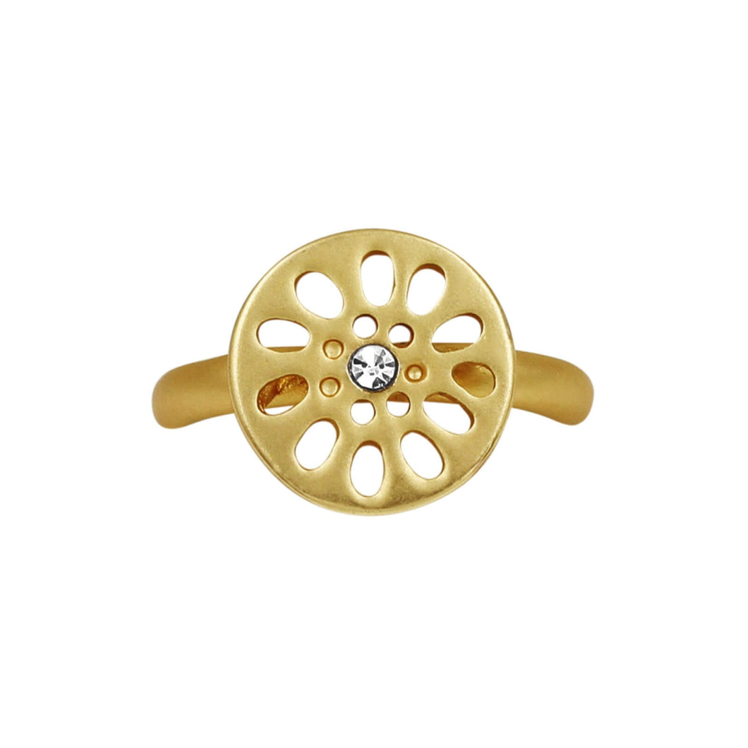 Daisy Gold Plated Ring