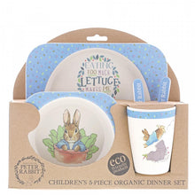 Load image into Gallery viewer, Peter Rabbit Bamboo Dinner Set