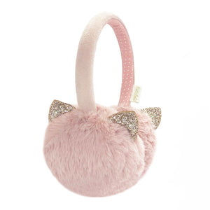 Clar Cat Blush Pink Earmuffs