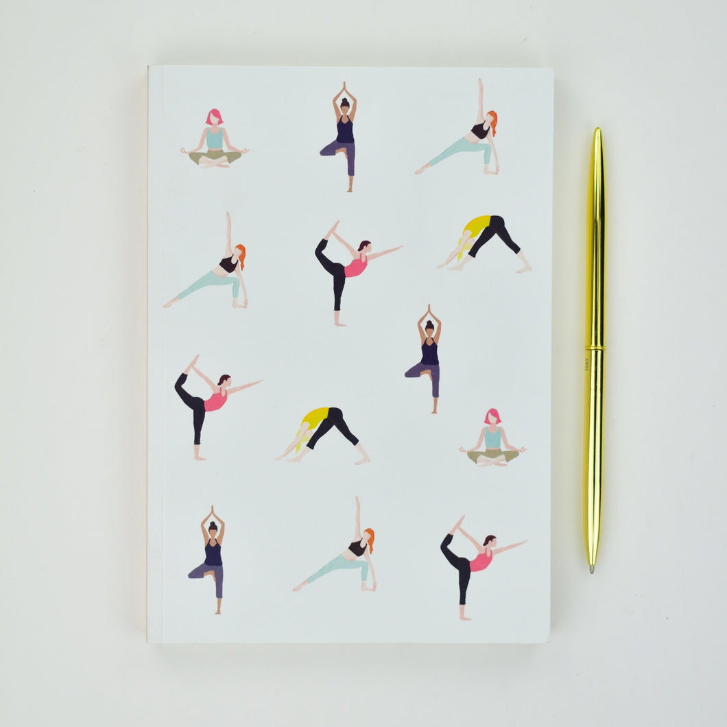 Yoga Girls A5 Lined Notebook